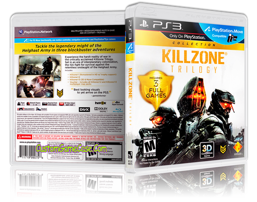 Killzone Trilogy - Sony PlayStation 3 PS3 - Empty Custom Replacement Case