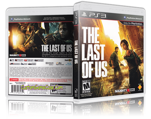 Last of Us - Sony PlayStation 3 PS3 - Empty Custom Replacement Case