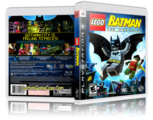 Lego Batman The Videogame - Sony PlayStation 3 PS3 - Empty Custom Replacement Case