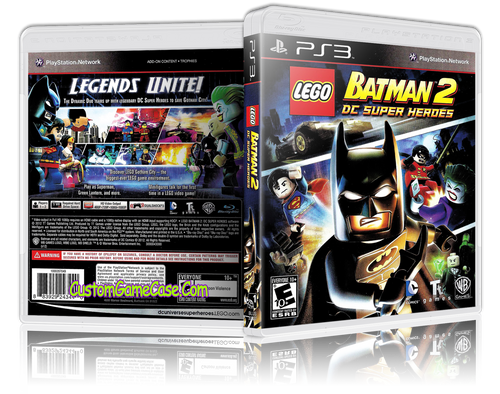 Lego Batman 2 The Videogame - Sony PlayStation 3 PS3 - Empty Custom Replacement Case