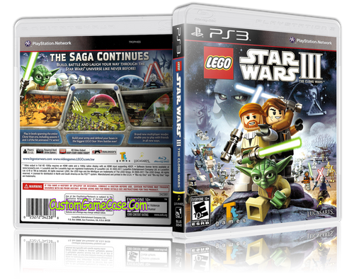 Lego Star Wars III - Sony PlayStation 3 PS3 - Empty Custom Replacement Case