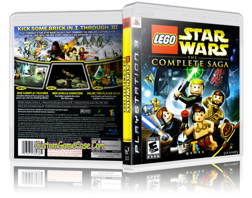 Lego Star Wars The Complete Saga - Sony PlayStation 3 PS3 - Empty Custom Replacement Case