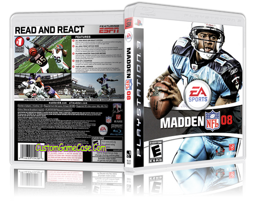 Madden 08 - Sony PlayStation 3 PS3 - Empty Custom Replacement Case