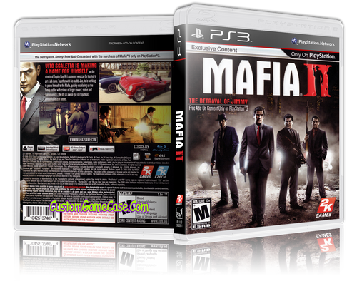 Mafia II - Sony PlayStation 3 PS3 - Empty Custom Replacement Case