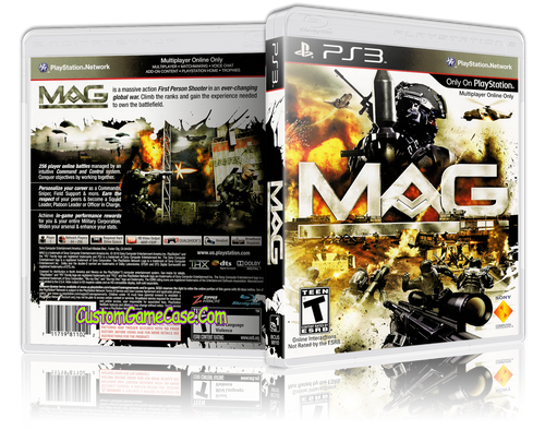 Mag - Sony PlayStation 3 PS3 - Empty Custom Replacement Case