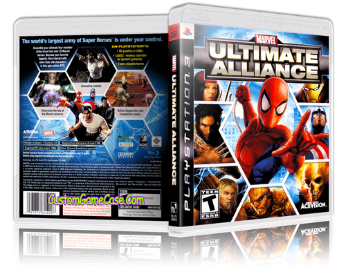 Marvel Ultimate Alliance - Sony PlayStation 3 PS3 - Empty Custom Replacement Case