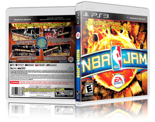 NBA Jam - Sony PlayStation 3 PS3 - Empty Custom Replacement Case