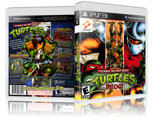Teenage Mutant Ninja Turtles Trilogy - Sony PlayStation 3 PS3 - Empty Custom Replacement Case