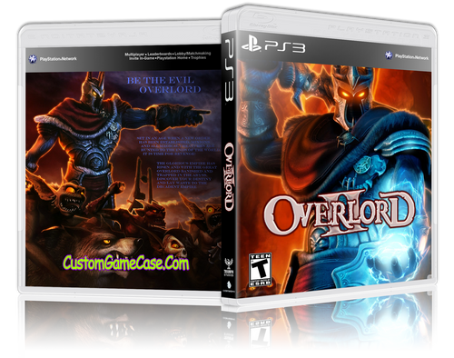 Overlord II - Sony PlayStation 3 PS3 - Empty Custom Replacement Case