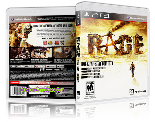 Rage Anarchy Edition - Sony PlayStation 3 PS3 - Empty Custom Replacement Case