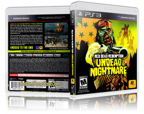 Red Dead Redemption Undead Nightmare - Sony PlayStation 3 PS3 - Empty Custom Replacement Case