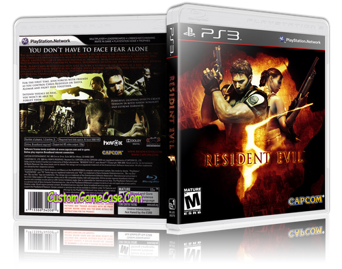 Resident Evil (New) - Sony PlayStation 3 PS3 - Empty Custom Replacement Case