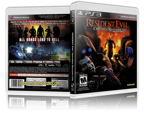Resident Evil Operation Raccoon City - Sony PlayStation 3 PS3 - Empty Custom Replacement Case