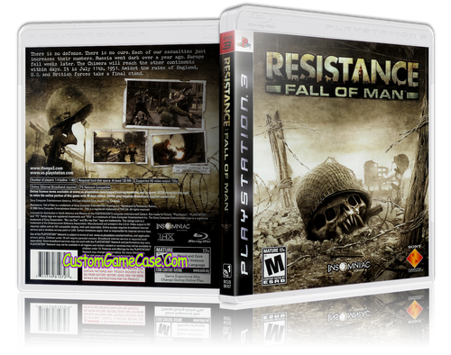 Resistance of Man - Sony PlayStation 3 PS3 - Empty Custom Replacement Case
