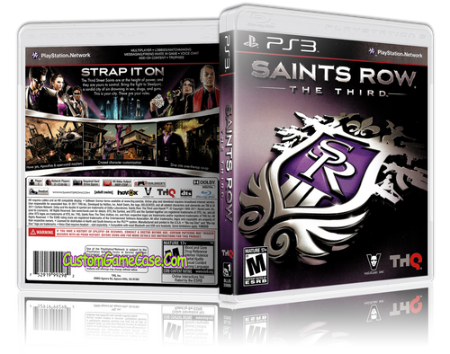 Saints Row The Third - Sony PlayStation 3 PS3 - Empty Custom Replacement Case
