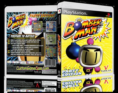 Bomberman Party - Sony PlayStation 1 PSX PS1 - Empty Custom Case