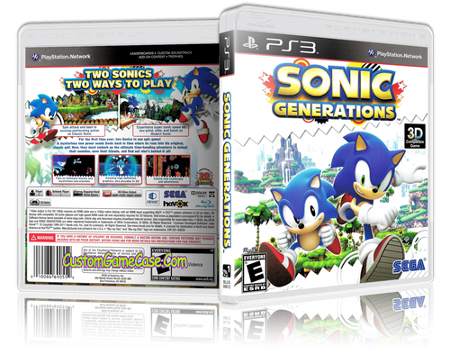 Sonic Generations 3D - Sony PlayStation 3 PS3 - Empty Custom Replacement Case