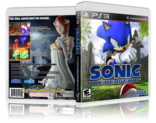 Sonic The Hedgehog - Sony PlayStation 3 PS3 - Empty Custom Replacement Case