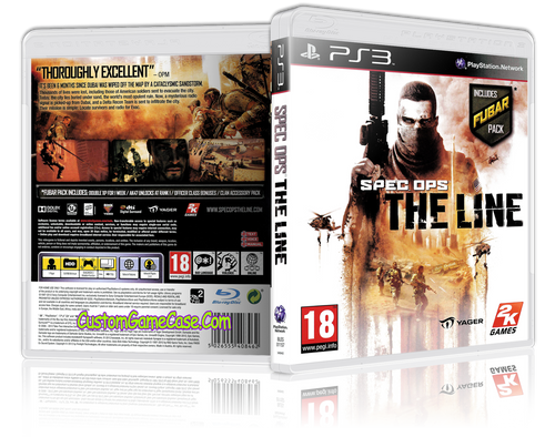 Spec Ops The Line - Sony PlayStation 3 PS3 - Empty Custom Replacement Case