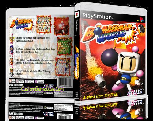 Bomberman World - Sony PlayStation 1 PSX PS1 - Empty Custom Case