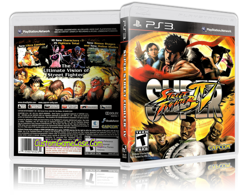 Super Street Fighter  IV - Sony PlayStation 3 PS3 - Empty Custom Replacement Case