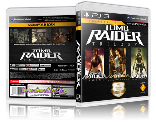 Tomb Raider Trilogy - Sony PlayStation 3 PS3 - Empty Custom Replacement Case