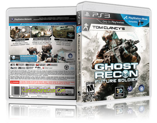 Tom Clancy's Ghost Recon Future Soldier - Sony PlayStation 3 PS3 - Empty Custom Replacement Case