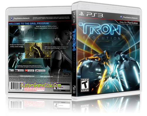 Tron Evolution - Sony PlayStation 3 PS3 - Empty Custom Replacement Case