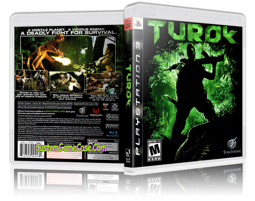 Turok - Sony PlayStation 3 PS3 - Empty Custom Replacement Case