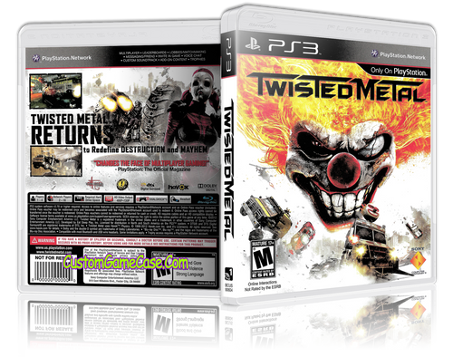 Twisted Metal - Sony PlayStation 3 PS3 - Empty Custom Replacement Case
