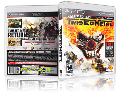 Twisted Metal Limited Edition - Sony PlayStation 3 PS3 - Empty Custom Replacement Case