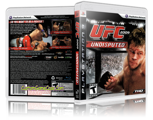 UFC 2009 Undisputed - Sony PlayStation 3 PS3 - Empty Custom Replacement Case
