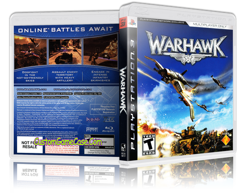 Warhawk - Sony PlayStation 3 PS3 - Empty Custom Replacement Case