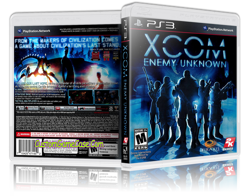 Xcom Enemy Unknown - Sony PlayStation 3 PS3 - Empty Custom Replacement Case