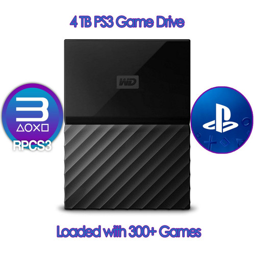 4TB USB Game Hard Drive - RPCS3 for PC / PS3 Console Loaded 300+ Games Hyperspin