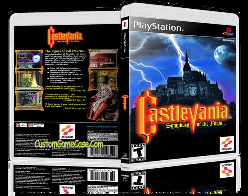 Castlevania Symphony of the Night - Sony PlayStation 1 PSX PS1 - Empty Custom Case