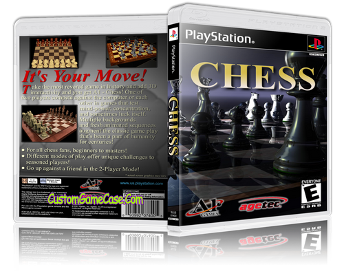 Chess - Sony PlayStation 1 PSX PS1 - Empty Custom Case