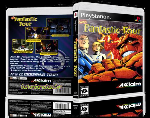 Fantastic Four - Sony PlayStation 1 PSX PS1 - Empty Custom Case
