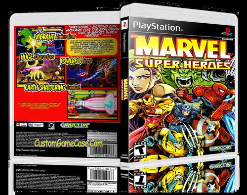 Marvel Super Heroes - Sony PlayStation 1 PSX PS1 - Empty Custom Case