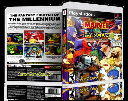 Marvel VS Capcom - Sony PlayStation 1 PSX PS1 - Empty Custom Case