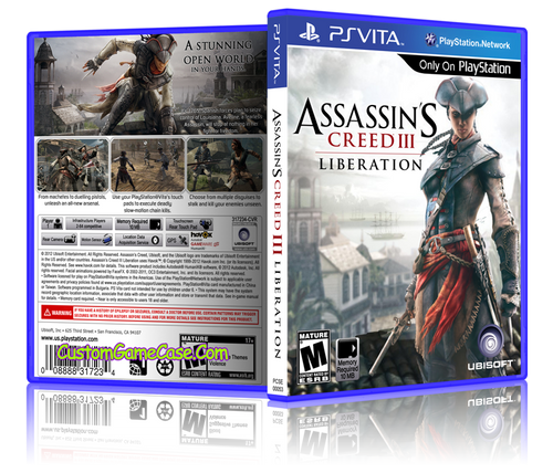 Assassins Creed 3 Liberation - Sony PlayStation PS Vita - Empty Custom Replacement Case