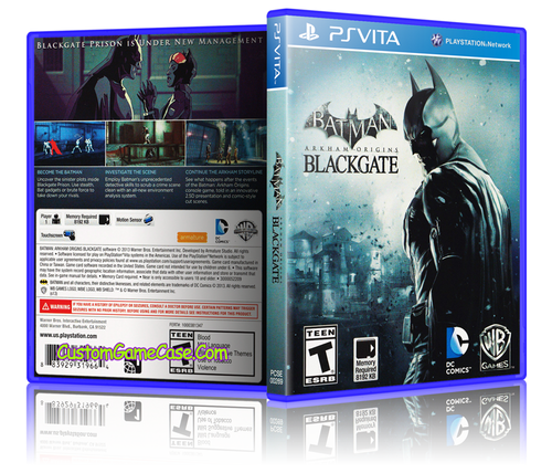 Batman Blackgate - Sony PlayStation PS Vita - Empty Custom Replacement Case