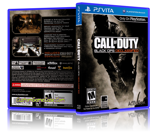 Call Of Duty Black Ops Declassified - Sony PlayStation PS Vita - Empty Custom Replacement Case