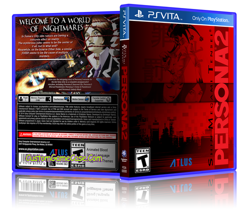 Persona 2 - Sony PlayStation PS Vita - Empty Custom Replacement Case