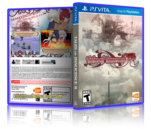 Tales of Innocence - Sony PlayStation PS Vita - Empty Custom Replacement Case