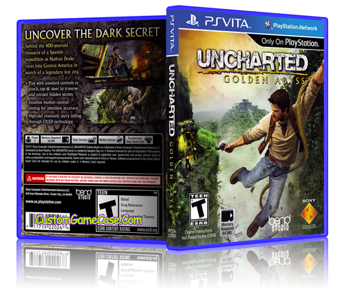 Uncharted Golden Abyss - Sony PlayStation PS Vita - Empty Custom Replacement Case