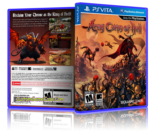 Army Corpse of Hell - Sony PlayStation PS Vita - Empty Custom Replacement Case