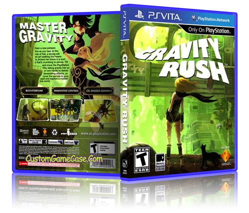 Gravity Rush - Sony PlayStation PS Vita - Empty Custom Replacement Case