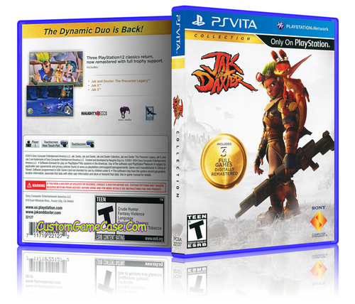 Jak and Daxter - Sony PlayStation PS Vita - Empty Custom Replacement Case