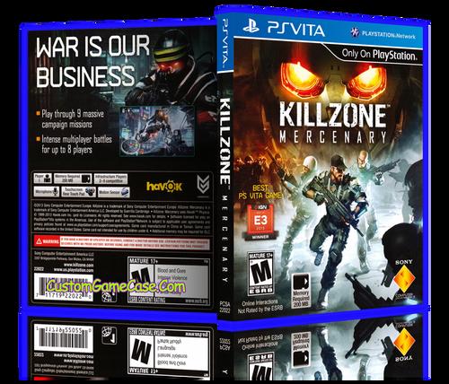 Killzone Mercenary - Sony PlayStation PS Vita - Empty Custom Replacement Case